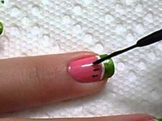 Watermelon manicure, nail art, fruity, manicure, tutorial, video