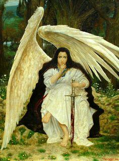 """""""El Ángel del silencio"""". Óleo sobre lienzo. 1999"""