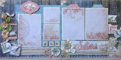 Good morning!  We recently had a wonderful visit from my dear sister and that inspired me to make these two layouts.  I hope that they insp...