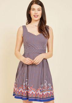 #AdoreWe #ModCloth Dress - ModCloth Sassed As You Can A-Line Dress in Geo - AdoreWe.com