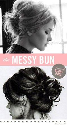 Classic messy bun!