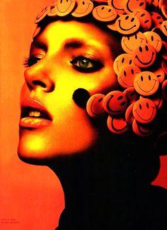 Numero / Metamorphose / photographer: Miguel Reveriego / fashion editor and stylist: Capucine Safyurtlu / hair: Ken O'Rourke / make-up: Val Garland / model: Anja Rubik Marie Claire, Color Photography, Fashion Photography, Amazing Photography, Orange Lips, Orange Zest, Coral, Anja Rubik, Orange You Glad