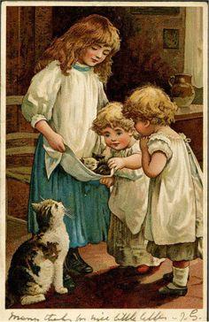 Harriett Mary Bennett - English - vintage postcard 1904