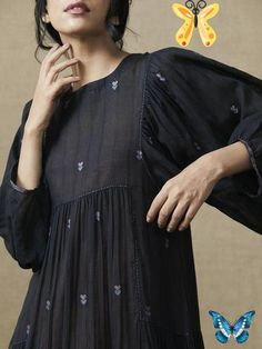 Thoughts In Ink Dress Thoughts In Ink Dress<br> Pakistani Dresses Casual, Indian Dresses, Indian Outfits, Kurta Designs, Blouse Designs, Frock Fashion, Fashion Dresses, Fashion Clothes, Stylish Clothes