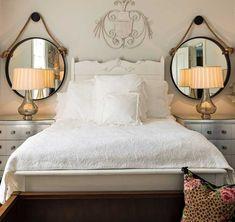Mirrors over nightstands   Bedroom Design