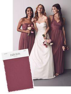 293c5e113c4 Planning a burgundy wedding  Chianti is a a pretty burgundy bridesmaid  shade from David s Bridal Bridesmade