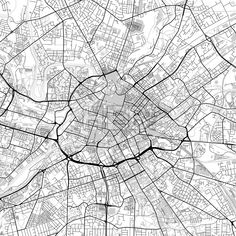 Downtown vector map of Manchester. Very detailed version for infographic and marketing projects. This map of Manchester, England, contains typical lan. City Vector, Map Vector, Manchester Map, Manchester England, City Art, Color Change, Travel City, Communication Design, Maps