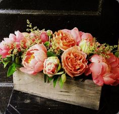 Lush monochromatic salmon flower arrangement by The Arrangement Company in Virginia#Repin By:Pinterest++ for iPad#
