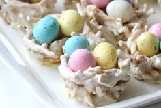 """These edible springtime """"bird nests"""" are actually made from marshmallows and chow mein noodles—fill 'em up with Whoppers Robin Eggs candy for full effect!"""