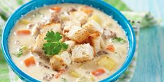 Slow Cooker Cheeseburger Soup - Great for the Adults and the KIDDOS! www.GetCrocked.com