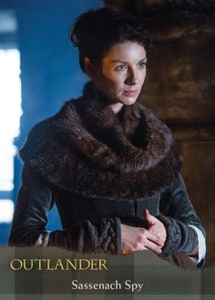 """More outstanding knitwear from the Starz show """"Outlander. Try to make this out of Plymouth Yarn Just For Kicks, Rowan Fur, or Erika Knight Fur Wool. See our 'Outlander Yarns' collection page. Claire Outlander, Watch Outlander, Outlander Season 1, Outlander Tv Series, Outlander Quotes, Claire Fraser, Jamie Fraser, Costumes Outlander, Knit Cowl"""