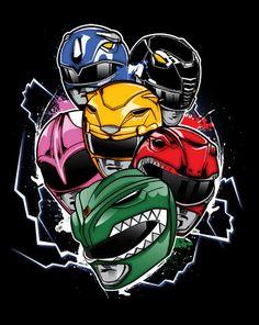 """""""Morphin Time OG"""" by InkOne Mighty Morphin Power Rangers Power Rangers 1995, Go Go Power Rangers, Kamen Rider, Power Rangers Tattoo, Desenho Do Power Rangers, Power Ranger Birthday, Pawer Rangers, Green Ranger, Mighty Morphin Power Rangers"""