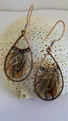 Feather Resin Drop Earrings, Pink Guinea Feather earrings, Blue Feather earrings, Brown Pheasant Feather earrings, Red Feather Earrings - pinned by pin4etsy.com