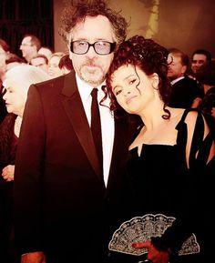 couples portraits. Helena with Tim Burton