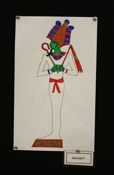 Second grade students at Meeting Street Academy in Charleston, SC study #Egyptian #Art and learn about King Tutankhamun (1341-1323 BCE) and the mythical god Osiris.  MSA founder Ben Navarro champions educational opportunities for under-resourced  families.  Elementary art education is a key component of his vision.   #MeetingStreetAcademy #Education #SCSchools #ShermanFinancialGroup
