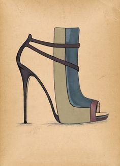 Disponible avec tous mes autres dessins sur : Guillaume Bergen  #Fashion #Sketch