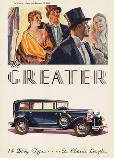 Greater Hudson Seven P Sedan 1929 - Mad Men Art: The 1891-1970 Vintage Advertisement Art Collection