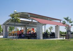 Custom Steel Shade Structure - From your first ideas to completed installation Modern Farmhouse Design, Modern Patio, Modern House Design, Carport Patio, Pergola, Round House Plans, Metal Garage Buildings, Shade Structure, Steel Structure