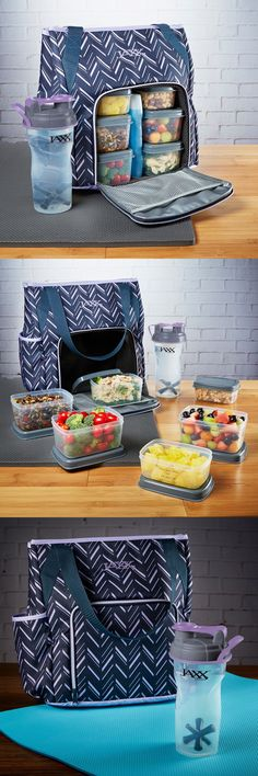 Gym Bags 68816: Jaxx Fitpak Commuter Meal Prep Tote With Portion Control Containers And Shakers -> BUY IT NOW ONLY: $49.99 on eBay!