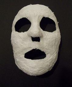 Como hacer una mascara con yeso