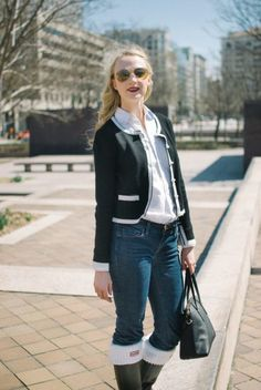 A light weight cardigan is the perfect layer for a breezy spring day.