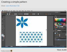 Creating a simple pattern in Illustrator CS6 #AdobeIllustrator