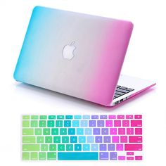 "IDACA Rainbow Hard Shell Case Cover for Macbook Air 13"" 13.3"" A1369 & A1466 and 2014 New Macbook Air 13"" with Silicone Keyboard Cover (USA KEYBOARD VERSION): Amazon.co.uk: Computers & Accessories"