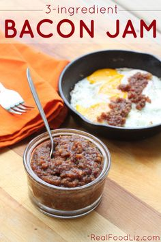 bacon jam - Real Food Liz This had GOT to be good. One of my favorite snacks are Bacon wrapped dates so I am going to have to make this. Primal Recipes, Bacon Recipes, Jam Recipes, Canning Recipes, Real Food Recipes, Bacon Jam, Good Food, Yummy Food, Dieta Paleo