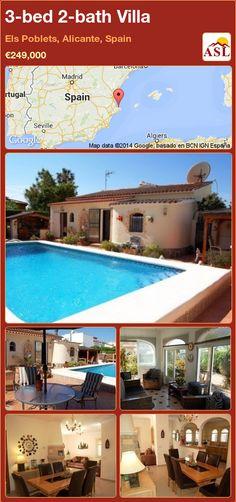 3-bed 2-bath Villa in Els Poblets, Alicante, Spain ►€249,000 #PropertyForSaleInSpain