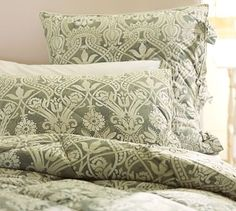 Lorraine Comforter & Sham den - 60 and shams no longer avail Conservatory Dining Room, Pottery Barn Quilts, Laundry Decor, Home Decor Sale, Bedroom Themes, Bedrooms, King Duvet, Comforters, Bed Pillows