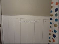 Crafty Cousins: DIY beadboard/wainscoating for less than $20.00.  Super easy!