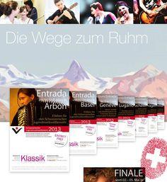 Auf zum Gipfelsturm. Das Ziel: Fordern und Fördern. Der steile Weg vom reinen Klassik-Wettbewerb zum größten nationalen Jugendnachwuchswettbewerb der Schweiz für alle Musikrichtungen.  #Schweiz #Musik #Jugend #Klassik #Design #creative #brands #business #concepts #product #promotion