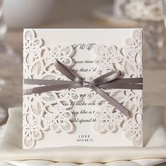 Sophisticated invitation in lace..:)