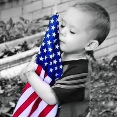 Our Soldiers and their Family's Sacrifice so much more than their given credit for. This little boy understands why his daddy has been gone from home for so long. He hugs the Flag that he knows his daddy is fighting for. The least we can do is pray for them and lend a helping hand to their loved ones. Please consider what you can do for those who serve us. Thank You!