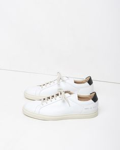 Common Projects, leather shoes, white, black, ivory, flats, tennies