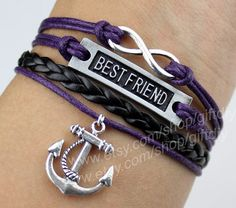 Anchor Bracelet BEST FRIEND Bracelet infinity bracelet by giftdiy, $4.29