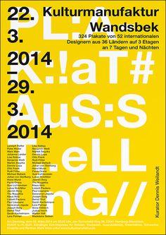 beautiful yellow simple type poster plakat