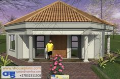 Overall Dimensions- 0 Car GarageArea- Square metres Round House Plans, My House Plans, Family House Plans, Modern House Plans, House Floor Plans, House Roof Design, Flat Roof House Designs, Hut House, Dome House