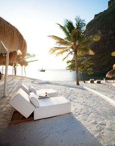Sugar Beach, St. Lucia.