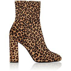 Barneys New York Women's Leopard Calf Hair Ankle Boots
