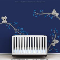 Baby Wall Decals Eletric Blue Kids Wall Decal Tree Baby Room Decor - Koala Tree Branches by LittleLion Studio. $79.00, via Etsy.