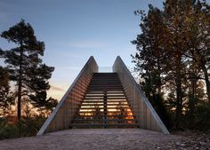 Stokke Forest Stair in Sti for Øye Sculpture Park | Saunders Architecture