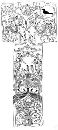 Mawangdui Banner History Class, Art History, Chinese Painting, Chinese Art, Chinese Ornament, Chinese Element, Chinese Dragon, Ancient China, Asian Art