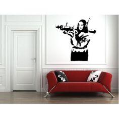 Banksy wall decal