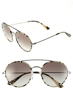 Prada 54mm Retro Sunglasses available at #Nordstrom