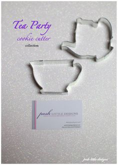 Tea Party Cookie Cutter Collection Set - 2 piece. $3.85, via Etsy.