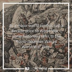 In fact, many scholars believe that the Russo-Japanese War set the stage for WW I #russojapanesewar #war #facts