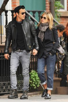 Jennifer Aniston And Justin Theroux In New York, 2011