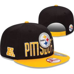 527ebd37e Pittsburgh Steelers New Era 2013 NFL Draft 9FIFTY Black   Yellow Snapback  Hat Pittsburgh Steelers Merchandise