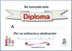 Diplomas para imprimir | Familia y Cole